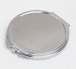 blank mirrors Promo Codes - 1pcs 60MM Blank Compact Mirror DIY Portable Metal cosmetic mirror Silver