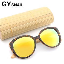 871e111492548 GY Vintage De Bambu De Madeira De Madeira óculos de sol das mulheres  designer de marca retro Espelho Revestimento feminino óculos de sol de  madeira para as ...