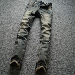 2020 botones de jean al por mayor Diseño retro clásico Hombres Jeans Alta calidad Slim Fit Denim Botones Pantalones Famosos Balplein Brand Jeans Hombres Vintage Venta al por mayor Jeans Homme botones de jean al por mayor baratos