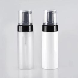 Kosmetische plastikpumpenflaschen online-300 stücke 100 ml 150 ml Leere kosmetische gesichtsreiniger waschcreme Kunststoff Matt pet flüssigseife schaum flasche schäumer pumpe Container