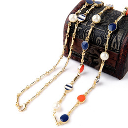 Wholesale Fresh Sweater - 2018 new High-End Luxury Fashion Lady Long Necklace, Sweater Chain, Fresh Pearl Drop Pendant Woman Necklace