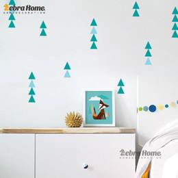 adesivos de parede de triângulo Desconto Hildren adesivos Crianças Etiqueta Nordic Ins Geometria Triângulos Adesivo Padrão Moderno Nursery Wall Art Decoração DIY Art Casa Decoração Bab ...