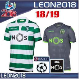 0177b86e73 2018 2019 Sporting Lisboa Camisa de Futebol Lisboa Dost Martins Camisa 18  19 Bas Camisa de Futebol Bruno Fernandes