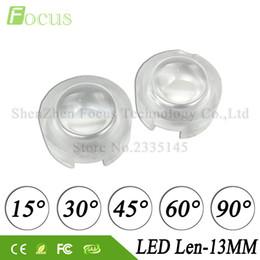 Светодиодный объектив pmma онлайн-20 шт. / лот высокая мощность 1 Вт 3 Вт 5 Вт LED объектив 13 мм Mini PMMA линзы 15 30 45 60 90 градусов для 1 3 5 Вт Wa LED лампа прожектор