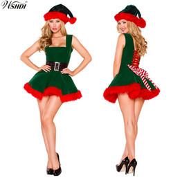 Canada Deluxe Sexy Vert Elf Père Noël Costumes Femmes Adultes De Noël De Déguisements De Costumes De Noël Cosplay Party Costume cheap elf dress costume Offre