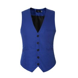 Wholesale Men S Tailored Black Suits - Suit ma3 jia3 Solid color men waistcoat tailor made groom tuxedos vest new arrival formal business suits waistcoat vest