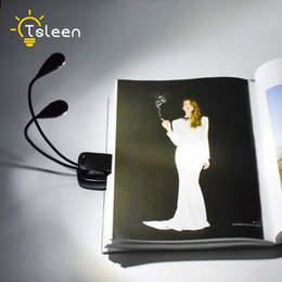 Wholesale Cheap Yellow Lamps - TSLEEN Cheap! Adjustable Clip on LED Lamp for Music Stand and Book Reading Light Battery and USB Led Table Lamp Night Light