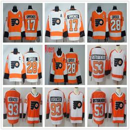 ad0588699 2018 Man   Women   Youth Hockey Philadelphia Flyers Jersey   93 Jakub  Voracek 53 Shayne Gostisbehere 28 Claude Giroux Wayne Simmonds Naranja  Blanco barato ...