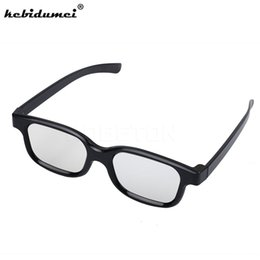 Wholesale Visions Tv - kebidumeiDesign Plastic 3D Stereo Glass Vision Glasses Viewer Game Movies Glasses for Samsung Smart TV for SONY LG Sharp