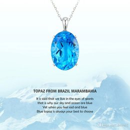Wholesale United Wedding - Europe and the United States selling the Rhine Topaz pendant sapphire necklace silver jewelry wholesale a generation of hair