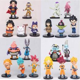 Wholesale big plastic dolls - 20 Styles 20pcs lot 5-7cm Dragon Ball Z Action Figures Toys Cartoon Goku Vegeta Siah Dolls Model Desktop Party Favor CCA10014 10set