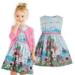 Wholesale Hot Rabbit Dresses - 2018 new hot children's clothing Dress girls Europe version of sleeveless dress children's flower printed rabbit skirt