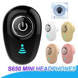 S650 Mini Auriculares Bluetooth Auriculares Inalámbricos In-ear Auriculares Deportivos Manos Libres Auricular Con Micrófono Para iPhone X Samsung Con Caja desde fabricantes