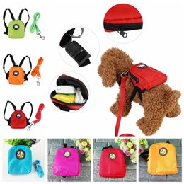 Wholesale dog backpack large - Pet Puppy Dog Cat Harness Bag With Leash Hiking Camping Outdoor Backpack Multifunction School Bag GGA433 100pcs
