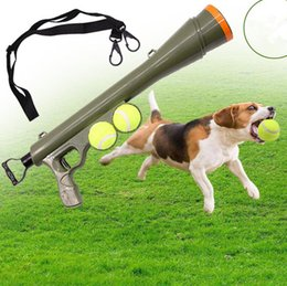 Wholesale games dogs - Dog Tennis Ball Catapult Toy Launcher Training outdoor Launcher Dog Training Obedience Play Fetch Throw toy Outdoor Games Activities FFA416