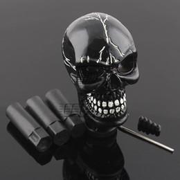 Manopole del cambio del cranio online-Skull Head Universal Car Truck Pomello leva del cambio manuale leva cambio Shifter nero