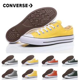 b27aa20ba779 2018 New Converse Chuck TayLor All Star Yellow Green Casual Shoes Classic  Canvas Shoes Women Men Converses Trainers Skate Sneakers zapatos