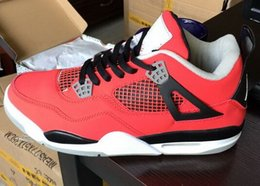 Wholesale Pictures Cows - Real Picture Classic 4 4s toro bravo fear pack white cement men women basketball shoes sneakers bred high cut sports shoes