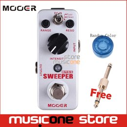 Wholesale Mooer Guitar - Mooer Sweeper Bass Dynamic envelope filter Effect guitar pedal for bass guitar True Bypass with gold pedal connector MOOER knob