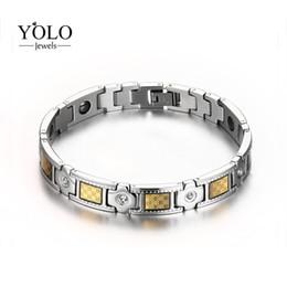 Ювелирные изделия способа для людей браслет нержавеющей стали магнитный никогда-окисляет Hypo-аллергический браслет отрицательных ионов отпуска от Поставщики серебряный ремешок для часов