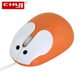 Wholesale Cute Mouse For Laptop - CHYI Mini Cute Cartoon Rabbit Mouse For Kids Ladies USB Wired Optical Mause 1200DPI Computer Gaming Mice for Laptop PC Gifts