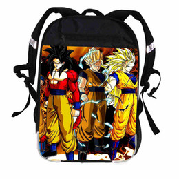 Wholesale japanese women backpack - Black Son Goku Dragon Ball Super Saiyan Backpack Japanese Anime Women Men Casual For Boys Girls School Bags Mochila Bagpack