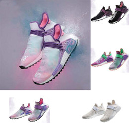 Wholesale Running Sun - 2018 Hot Products Human Race Pharrell Williams Hu TR Shoes Sports Sun glow high quality men Running shoes US 5-12