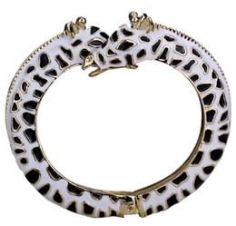 Bracelet girafes en Ligne-Bracelet girafe blanc bracelet pour les femmes antique argent or couleur mignon animal bijoux FT13 gros dropshipping
