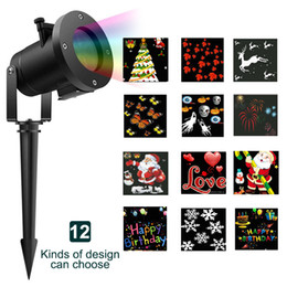 12 Patterns Mini Christmas Laser Snowman Projector Outdoor LED Moving Landscape Lamp Waterproof Disco Lights Decorations for Home