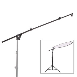 Abrazadera de soporte de brazo online-Extensible Photo Studio Fotografía Reflector Difusor Holder Soporte Boom Arm Support withClip Flexible Giratorio Grip Head Clamp