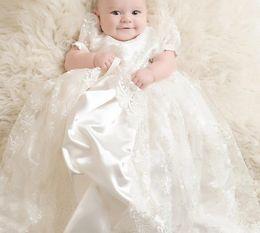 Canada Nouvelle Arrivée Bébé Fille Brodée Robe pour Baptême première communion robes longueur de plancher en dentelle Enfants Vêtements de cérémonie Offre
