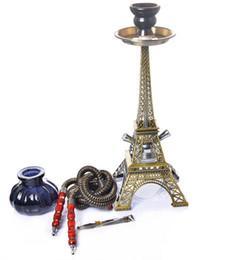 Новый роскошный кальян кальян Эйфелева башня форма курительная трубка два шланга комплект инновационный дизайн высокого класса наслаждение высокое качество горячий торт от