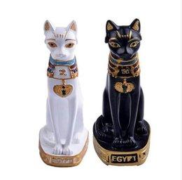 Decorações vintage de páscoa on-line-Egipto Gato Acessórios de Decoração Para Casa Decoração Da Casa Do Vintage Estatuetas Estatuetas Lembranças De Páscoa Presentes Da Sorte Em Miniatura Bonecas S3