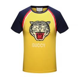 Wholesale sublimation sleeve - 16929 hot sale New fashion Mens Tiger printing Sublimation print T-shirts plus size round neck