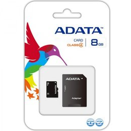 Wholesale Free Packages - ADATA 100% Real Full Capacity Genuine 4GB TF Flash Memory Card with Free SD Adapter in Blister Package DHL Shipping