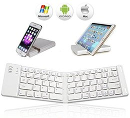 Wholesale Pocket Keyboard - Bluetooth Folding Keyboard Ultra Slim Pocket Size Foldable Keyboard For iOS   Android   Windows for iPad Mini, iPad Pro iPhone Smartphones S