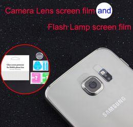 2019 vidrio trasero galaxy s6 Para Galaxy S8 S8Plus S7edge S6edge S6edge S6edge Plus Note7 Note5 Accesorio Parte posterior de la lente de la cámara + lámpara de flash Cristal templado Protector de pantalla completa rebajas vidrio trasero galaxy s6