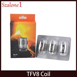 Wholesale eletronic cigarettes - TFV8 Coil Head X4 Q4 T6 T8 T10 RBA Eletronic Cigarette Cloud Replacement Coils For TFV8 Cloud Beast Tank Atomizer 0266101