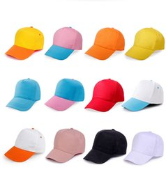 Wholesale children baseball - Kids Blank Mesh Trucker Baseball Mesh Hat Children Junior Solid Two Tone Caps Youth Trucker Snapback Blank Plain Hat Adjustable AAA124