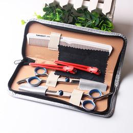 Herramientas de taller online-6 pulgadas Salón de belleza Herramientas de corte Peluquería Tijeras de peluquería Herramientas de peluquería Tijeras de peluquería profesional conjunto