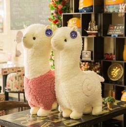 Alpaca Plush Toy Sheep Stuffed Doll Toys Kids Stuffed Animals Decorative  Pillow Cartoon Toys Kids Christmas Gift 6 Colors DHW1594 bfc282c72e94