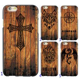 Canada Cas en bois pour Iphone X 6 7 8 TPU Couverture découpant en bois cas de dragon de loup croix croix Batman 10 pour choisir Offre