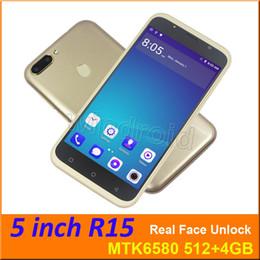 """2019 oppo mp3 spieler R15 5 """"Android 6.0 Viererkabel-Kern 3G Smartphone WCDMA freigesetzter GPS MTK6580 4GB Doppel-SIM Wifi 960 * 540 Bildschirm-Handy reales Gesicht entsperren 30pcs"""