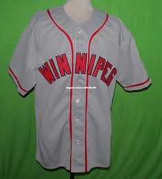 Wholesale Road Number - Cheap Retro THE WINNIPEG GOLDEYES #9 1963 Road BASEBALL JERSEY Or Custom any number any Mens Throwback jerseys XS - 5XL