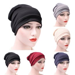 f729b592da6 Women s Hats 2018 India Hat Muslim Ruffle Cancer Chemo Hat Beanie Scarf  Turban Head Wrap Cap bonnet femme
