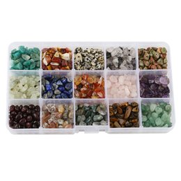Wholesale Heart Shaped Crystal Box - Irregular Shaped Loose Beads Chips Gemstone Crystal Pieces For Jewelry Making Box Set For DIY Jewelry Making Free DHL D846L