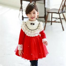 Wholesale Sweet Lovely Girls - Kids Girls Lovely Cute Children Princess Tutu Dress Ruffles Lace Patchwork Sweet Girls Fashion Dress B11