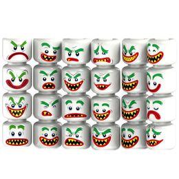 Wholesale Build Boy - 64pcs Mix Lot Minifig Head Facial Expression Man Woman Boy Girl Family DIY Figure Space Wars Super Heroes Mini Building Blocks Figures Toys