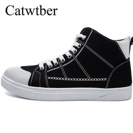 high soled shoes Promo Codes - Catwtber Fashion Boots 2018 High Top Rubber Sole Non Slip Skate Shoes Waterproof Men Boots Comfortable Casual Shoes For Youth