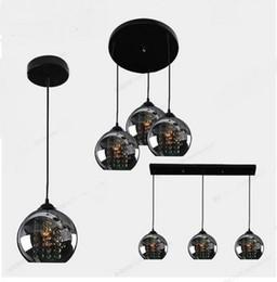 Argentina 3 cabezas colgantes luces negras vela lang restaurante chasis de tres palabras led etapa creativa lámpara colgante de cristal Suministro